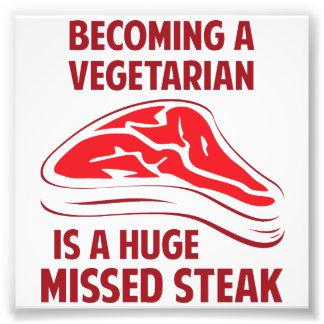 Aller bien à un végétarien est un bifteck manqué é photos d'art