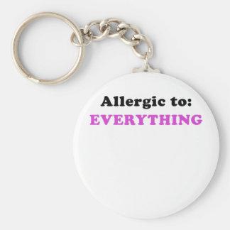 Allergic to Everything Basic Round Button Keychain