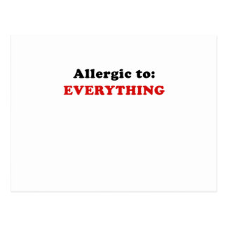 Allergic to Everything Postcard