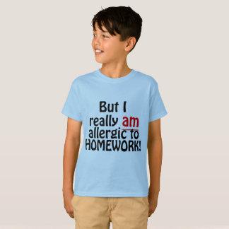 Allergic to Homework Shirt