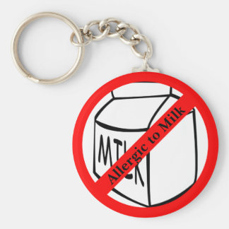 Allergic to Milk Basic Button Keychain