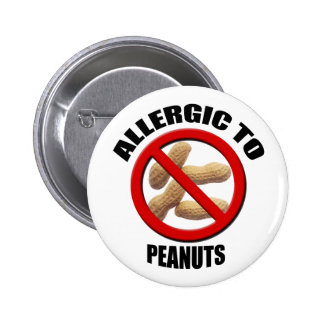 Allergic to Peanuts Medical Alert Std Button
