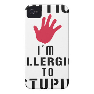 Allergic to stupid people Case-Mate iPhone 4 case