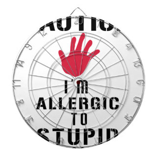 Allergic to stupid people dartboard
