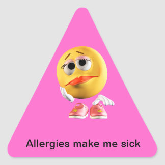 Allergies make me sick sticker