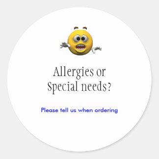 Allergies sticker