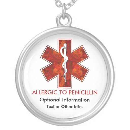 Allergique au collier médical   de pénicilline