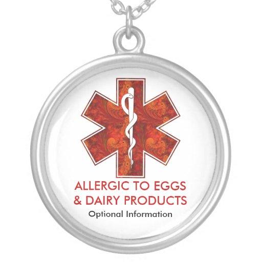 Allergique aux oeufs et au collier médical   de la