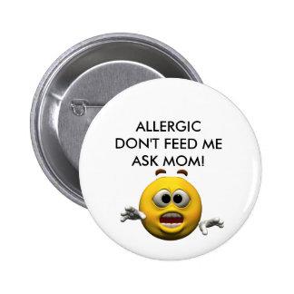 Allergique ! macaron rond 5 cm