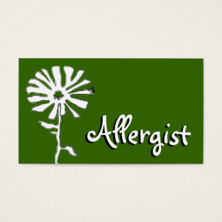Allergist flower squiggles business card