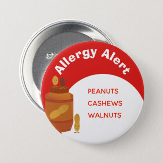 Allergy Alert Button | Nuts