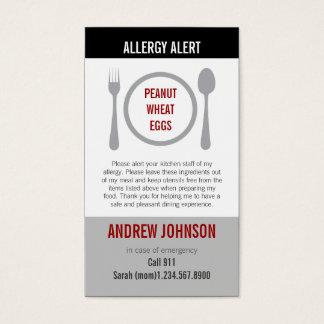 Allergy Alert Grey Duotones Business Card