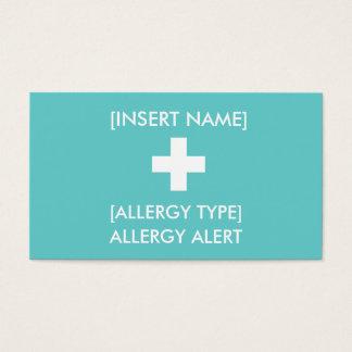 Allergy Alert ID/ICE Card