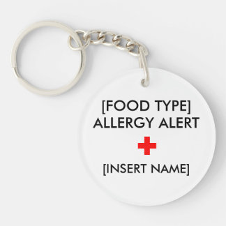 Allergy Alert Keychain