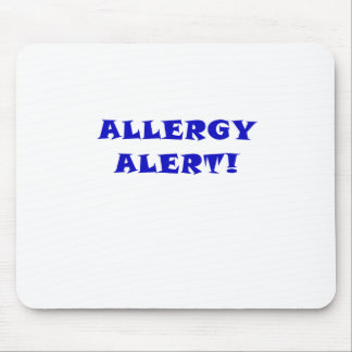 Allergy Alert Mouse Pad