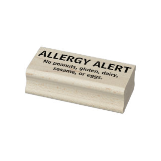 Allergy Alert Personalized Multiple Allergy Kids Rubber Stamp