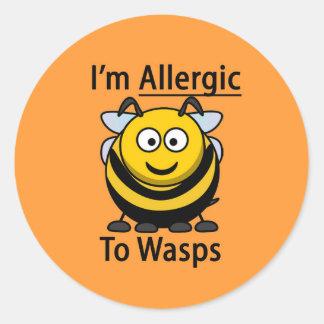 Allergy Alert sticker, wasps Classic Round Sticker