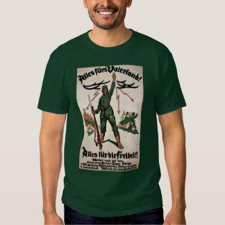 Alles Furs Vaterland WWI Poster Tshirt