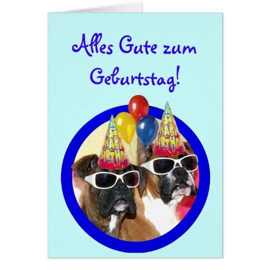 Alles Gute zum Geburtstag Boxer Hunde Karte Card