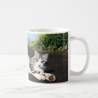 Alley cat niyan good fortune< Flower garden of Coffee Mug