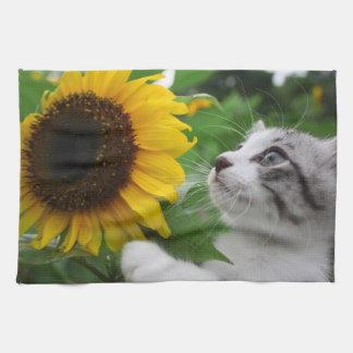 Alley cat niyan good fortune< Sunflower > Kitchen Towel