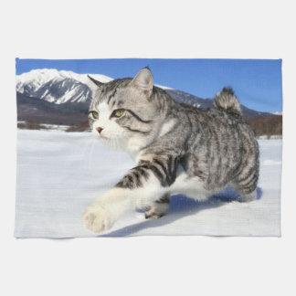 Alley cat niyan good fortune< Yukio cat > Hand Towel