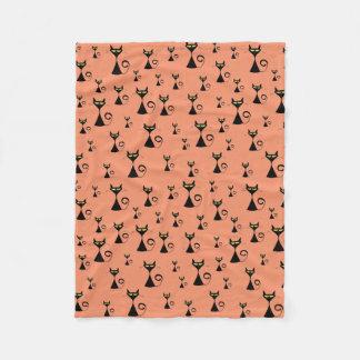 Alley Cat Pattern Fleece Blanket