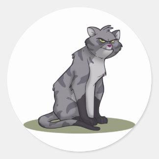 Alley Cat Round Sticker