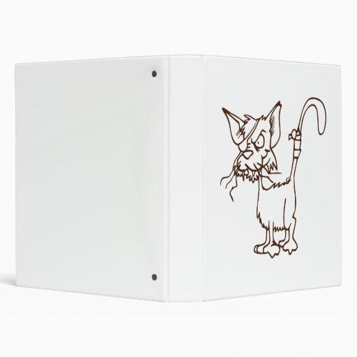 Alley Cat Tough Kitty Cartoon 3 Ring Binder