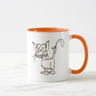 Alley Cat Tough Kitty Cartoon: Mug