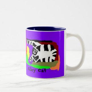 Alley Cat Two-Tone Coffee Mug