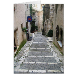 Alley in St Paul, France Card