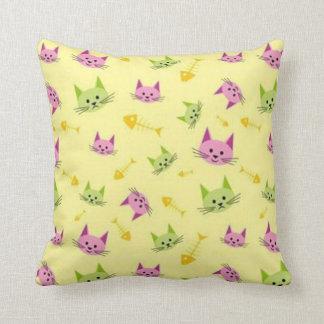 Alley Kitty Throw Pillow