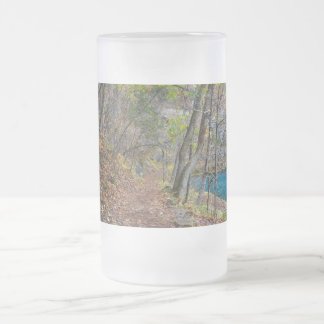 Alley Mill Autumn Walk Frosted Glass Beer Mug