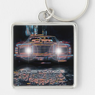 Alley Parking Square Premium Key Chain