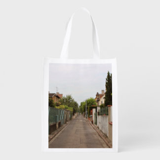 Alley Themed, An Alley Extends Down The Back Of Tw Reusable Grocery Bag