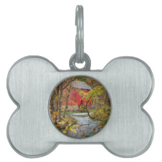 Alley Through The Woods Pet ID Tag
