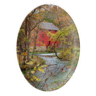 Alley Through The Woods Porcelain Serving Platter