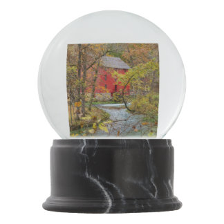 Alley Through The Woods Snow Globe