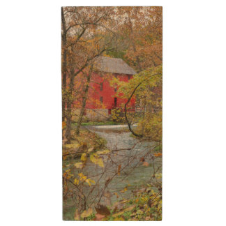 Alley Through The Woods Wood USB Flash Drive