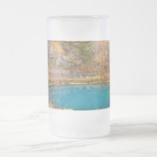 Alleys Blue Spring Frosted Glass Beer Mug