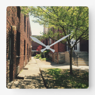 Alleyway Square Wall Clock