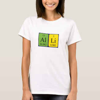 Alli periodic table name shirt