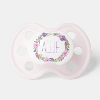 """Allie"" Simple & Elegant Personalized Name Pacifiers"