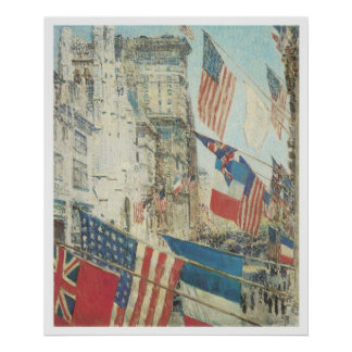 Allies Day, May 1917, Childe Hassam Poster