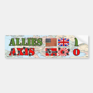 Allies vs. Axis World War II Bumper Sticker