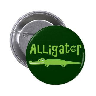 Alligator 2 Inch Round Button
