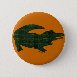 Alligator 2 Inch Round Button