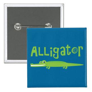 Alligator 2 Inch Square Button