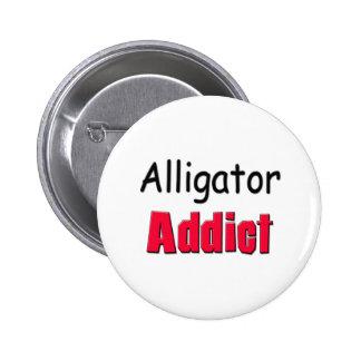 Alligator Addict 2 Inch Round Button